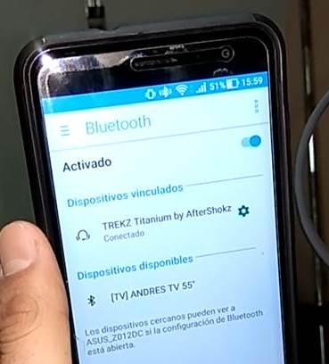 Auriculares Trekz Titatium de AfterShokz pairing mode asus zenfone 3