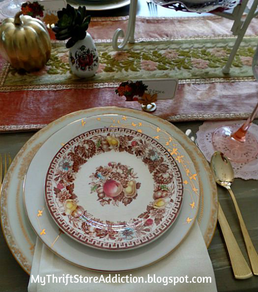 Vintage fall tablescape