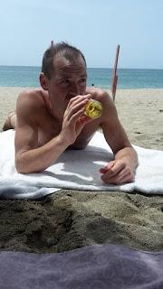 Enjoying some sun, sea and sand at La Guaira, Vargas, Venezuela.