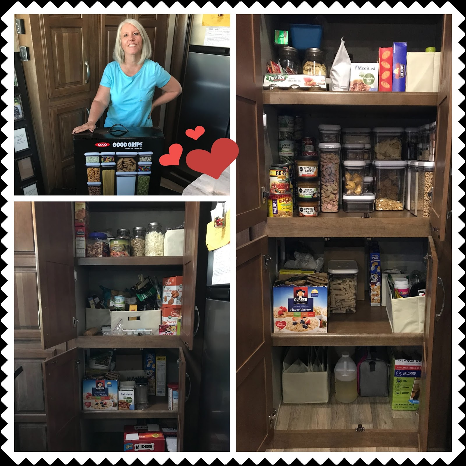 still need to organize the bathroom better so i might have some use for them there here are the before and after photos with a lot of food room to go