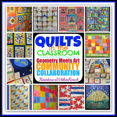 photo of: Quilts in the Classroom: Art Meets Geometry RoundUP at RainbowsWithinReach