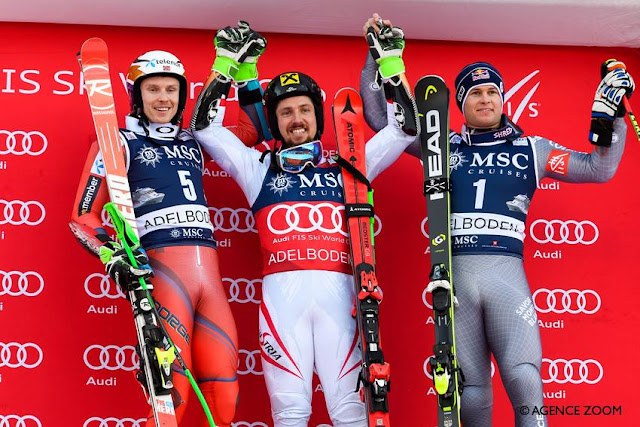 Marcel Hirscher Wins World Cup GS in Adelboden