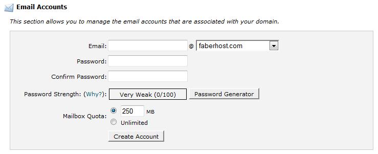membuat akun email di cpanel - FaberHost.com