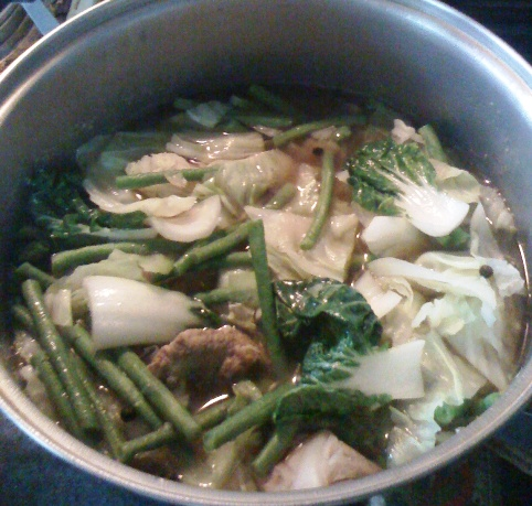 Cooking Pork Nilaga (Slow-cook Pork Stew)