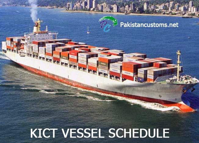 Kict Vessel Schedule