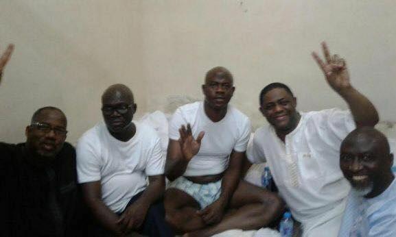 Abati, Obanikoro, FFK, others pose for photo in EFCC custody