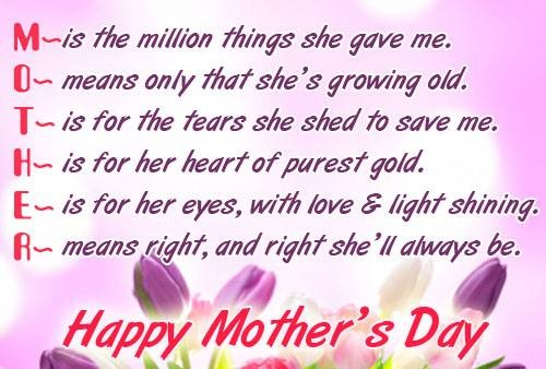 Happy Mothers day Images Quotes Free