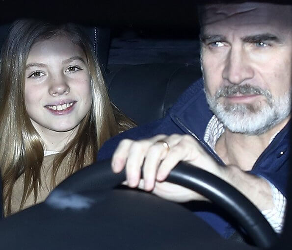 King Felipe, Queen Letizia and their daughters Princess Leonor and Infanta Sofia visited Queen Letizia's father, Jesus Ortiz