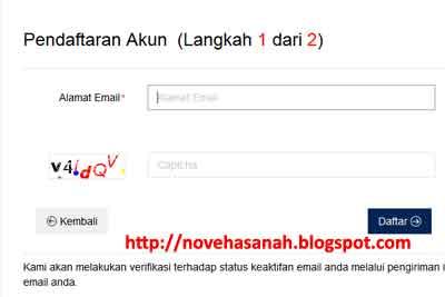 gunakan email dari gmail yang aktif untuk registrasi akun pajak di DJP online
