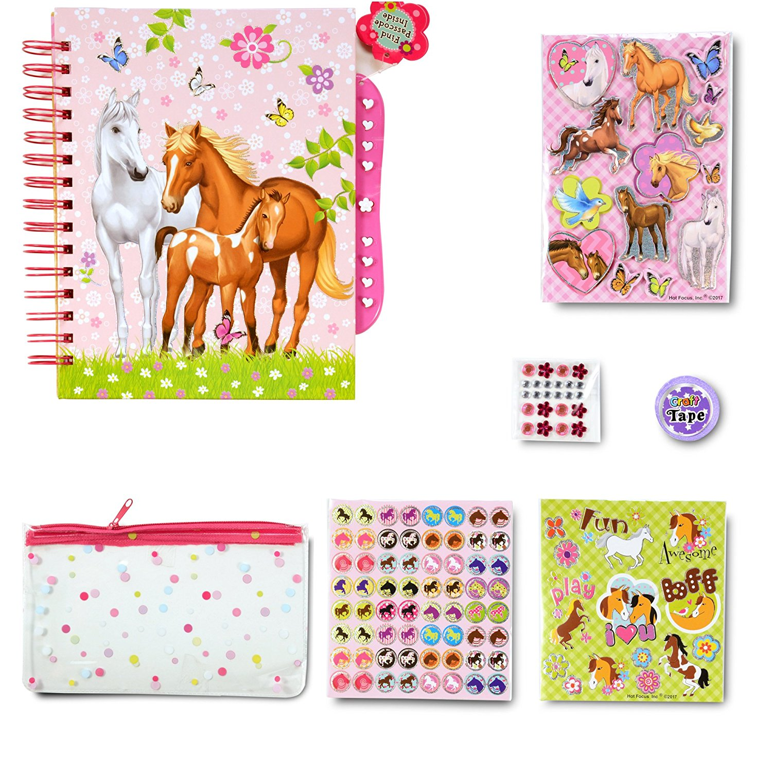 Missys product reviews scented secret scrapbook from smit co usfg my opinion i do think this is a great set for anybody who is a horse lover as all the stickers are horse themed and the passcode diary is perfect to write negle Gallery