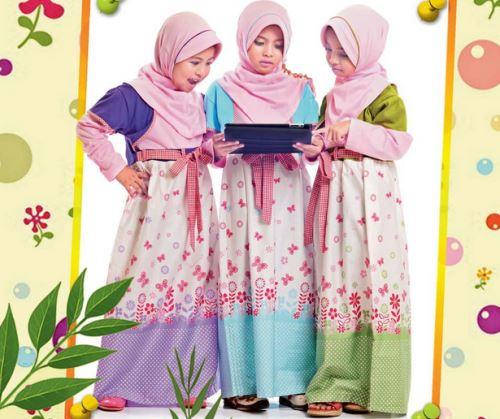 Baju muslim anak branded untuk perempuan