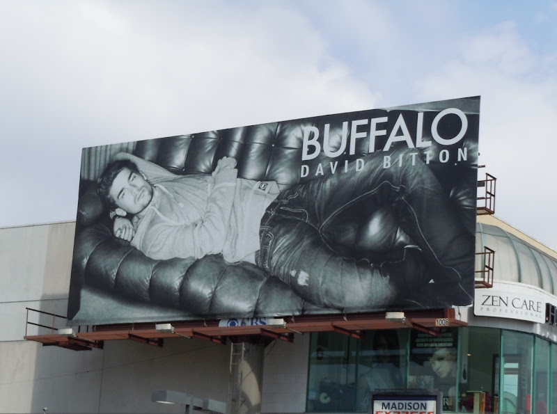 Buffalo Jeans male model billboard