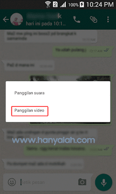 Cara melakukan Video Call WhatsApp di Android
