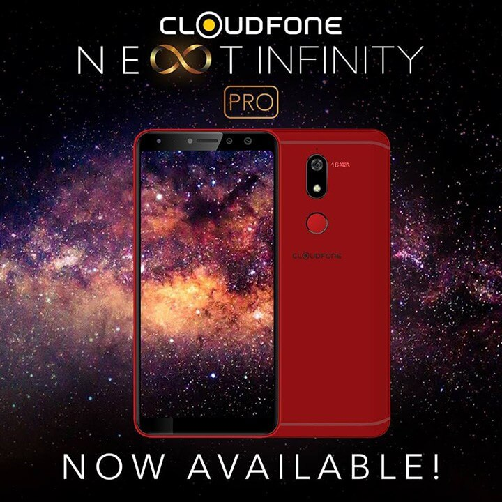 Cloudfone Next Infinity Pro Red Now Available; 18:9 Screen, Dual Selfie Cameras for Php9,999