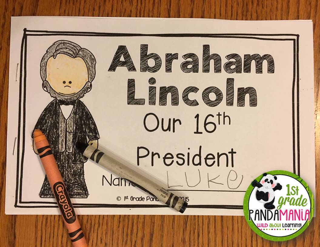 1st Grade Pandamania Freebie Sample Of My Presidents Day Pack