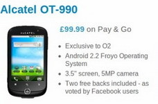 Alcatel OT-990 lands on O2 UK