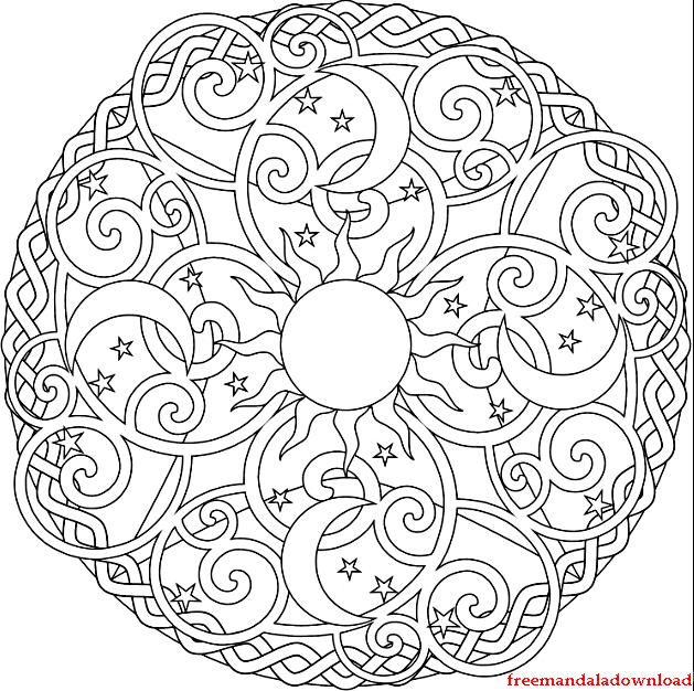 Mandala malvorlagen zum ausdrucken-Mandala coloring pages