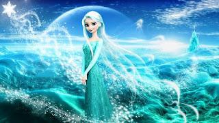 Elsa Frozen dengan rambut terurai