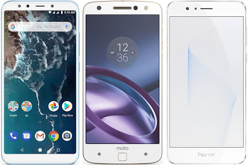 Xiaomi Mi A2 64G vs Motorola Moto Z vs Honor 8