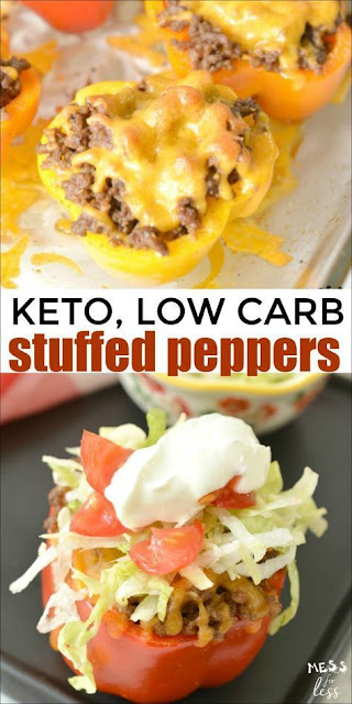 Taco Stuffed Peppers (Keto, Low Carb)