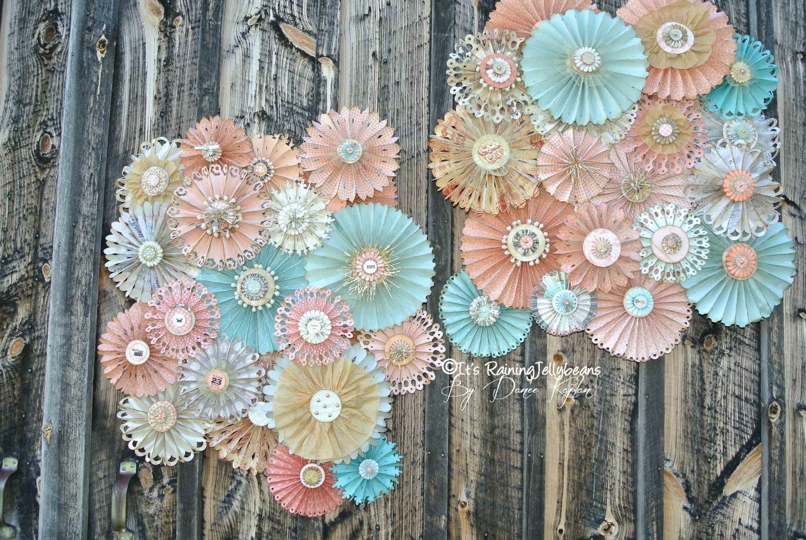 It S Raining Jellybeans Wedding Rosette Wall Decor