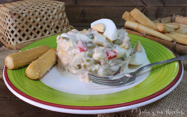 Ensaladilla de coliflor. Julia y sus recetas