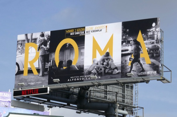Roma Golden Globe winner billboard