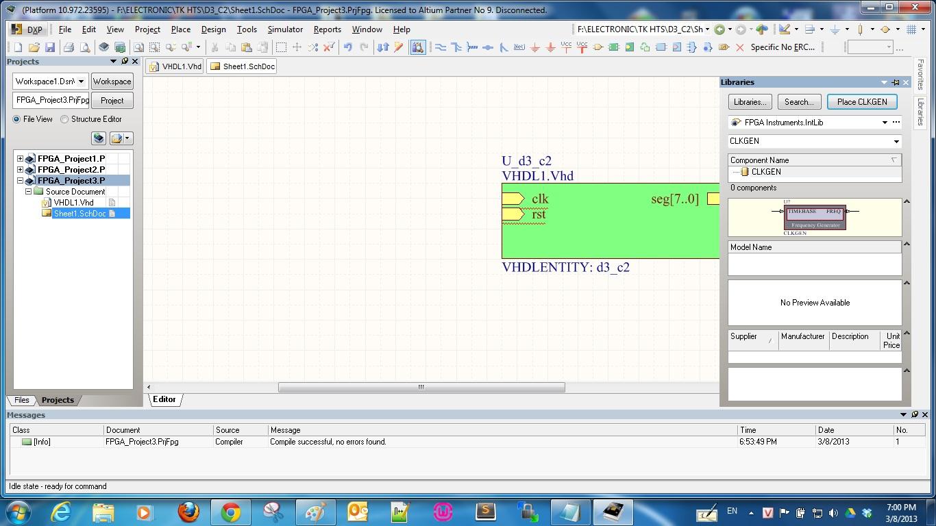 Hướng dẫn Tạo Project FPGA từ code VHDL sang Altium và Nanoboard