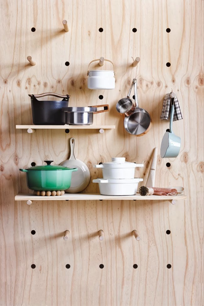 DIy plywood project: peg wall