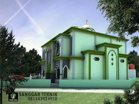 gambar desain masjid modern 15x15 dua lantai   sanggar teknik