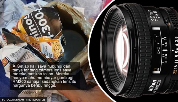 'Tolonglah kembalikan, lens itu punca rezeki saya' - Hantar camera lens untuk dicuci, tetapi hilang dicuri