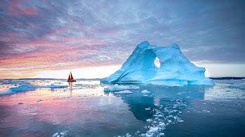 Iceberg, Ocean, Sunset, Scenery, 4K, #6.2201
