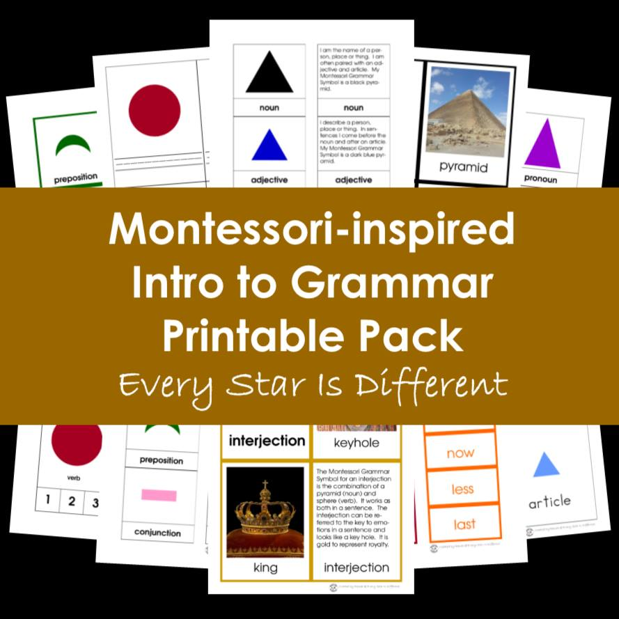 Montessori-inspired Intro to Grammar Bundle