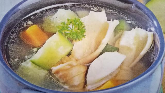 sup zukini kembang tahu