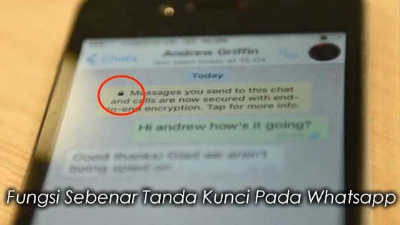 Inilah Fungsi Sebenar Tanda Kunci Pada Whatsapp