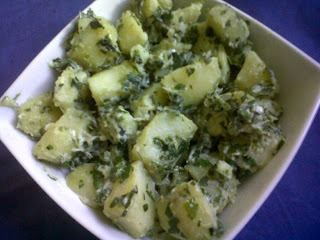 Potato and Spinach Salad