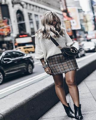 minifalda de cuadros tumblr de moda