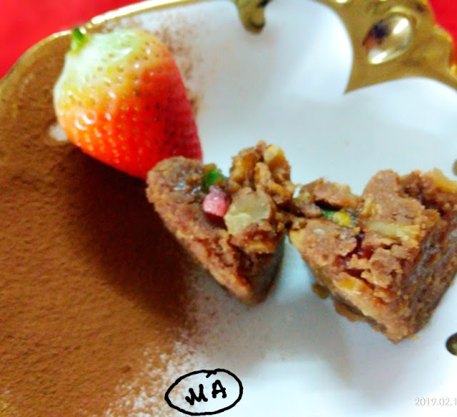 Oats choco honey cake