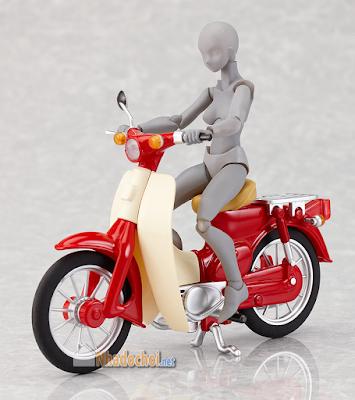 Xe Honda Cub Đồ Chơi Mô Hình Màu Đỏ