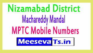 Machareddy Mandal MPTC Mobile Numbers List Nizamabad District in Telangana State