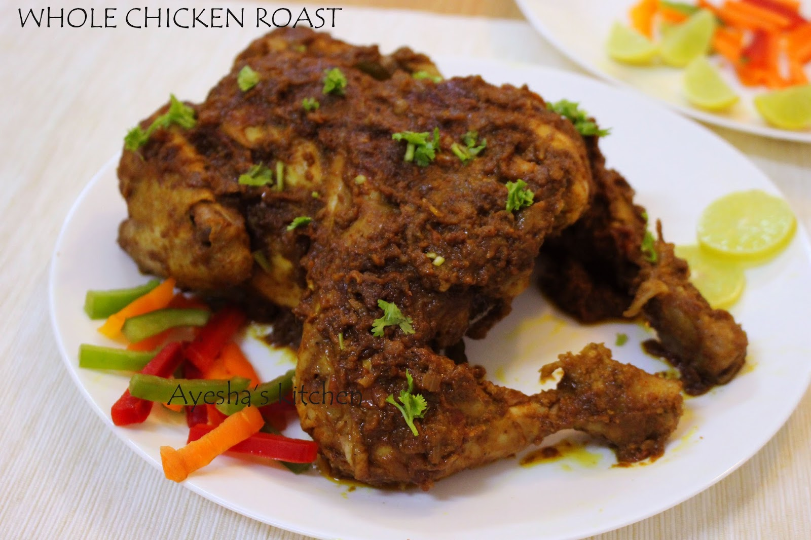 Oven Baked Whole Chicken-2408
