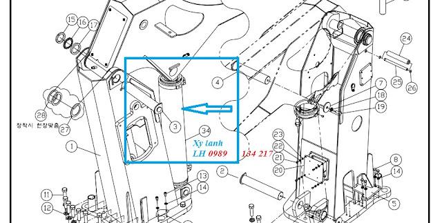 Xy lanh nâng cần cẩu Dongyang SS1406 chính hãng Hàn QUốc