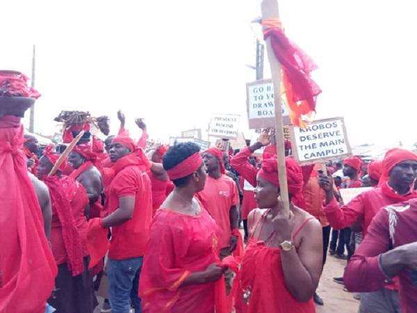 Krobos Threaten Naked Demo Against University Relocation