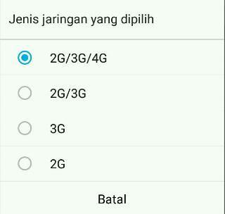 Tidak Bisa nelpon di smartphone 4G