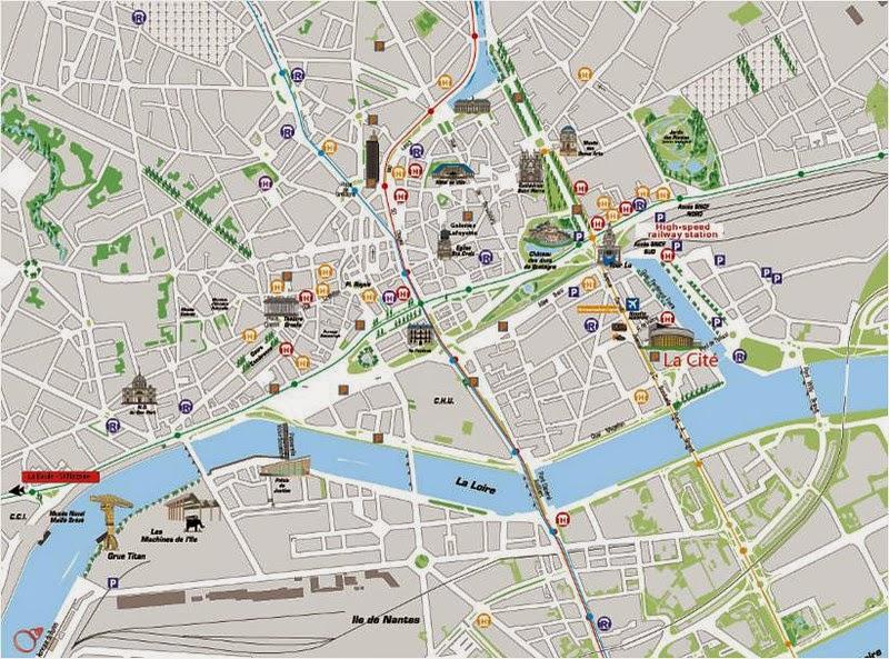 Mapa de Nantes.