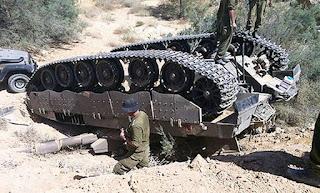 Tank Merkava Israel Terbalik