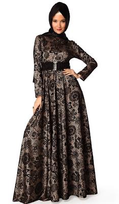 Model Dress Batik Muslim Elegan Modern Terbaru