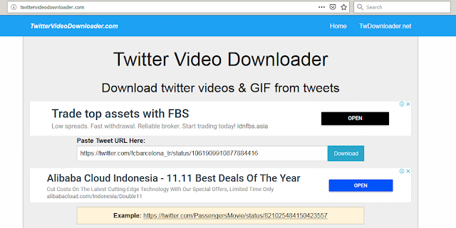 paste link video di twitter