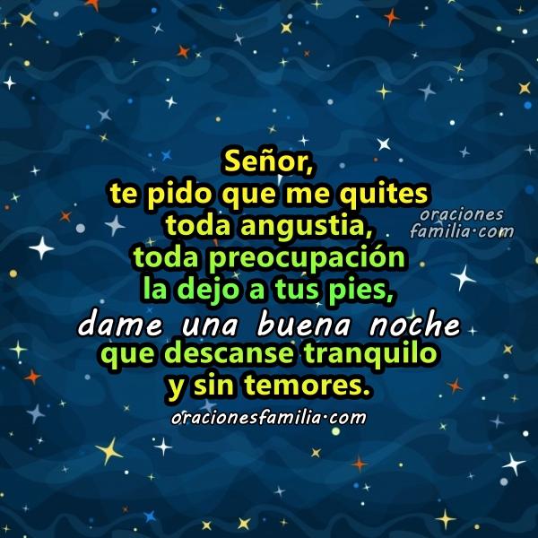 Oración corta al dormir, oración de buenas noches, frases cristianas con oraciones para la hora de ir a descansar en la noche con imágenes por Mery Bracho.