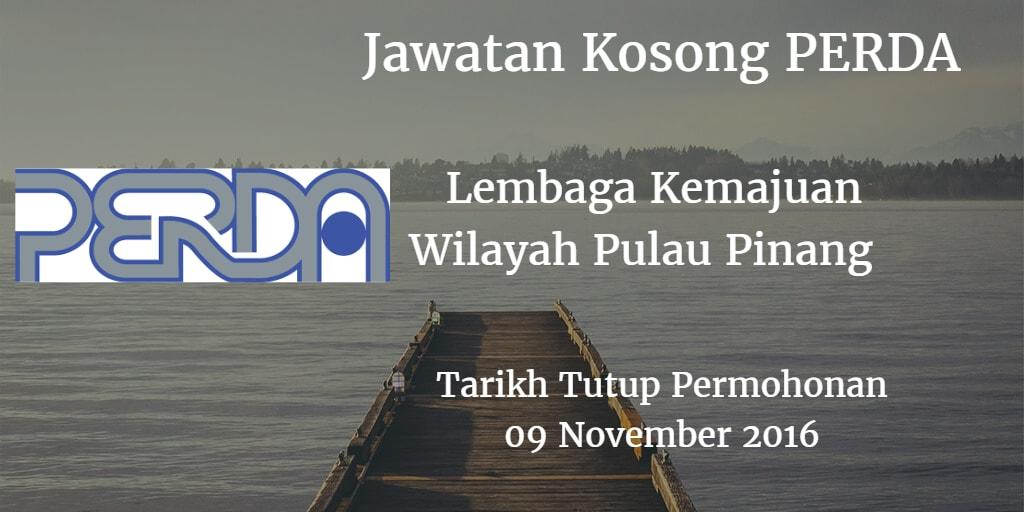 Jawatan Kosong PERDA 09 November 2016